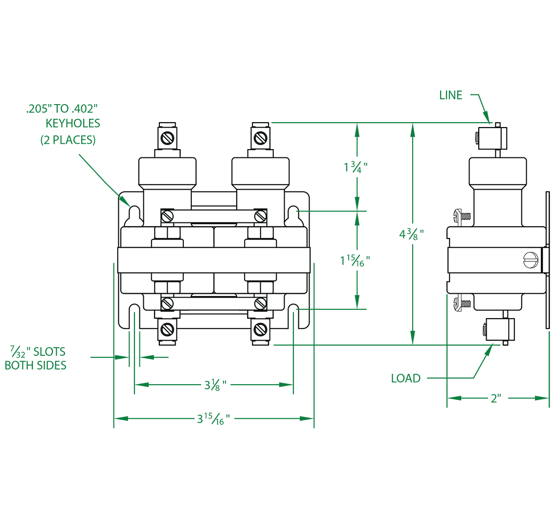 Mercury Relay - Hg Relay - Normally Open - 2 Pole - 35 AMP - 120 VAC Coil | Mercury Contactor Wiring Diagram |  | Mercury Displacement Industries
