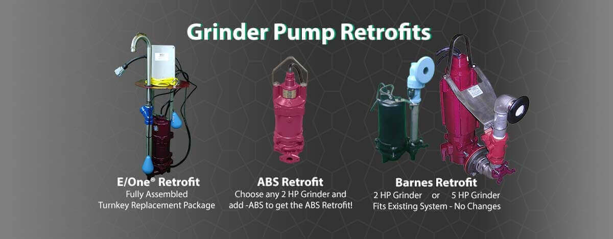 Grinder Pump Retrofits, Barnes, E-One or ABS