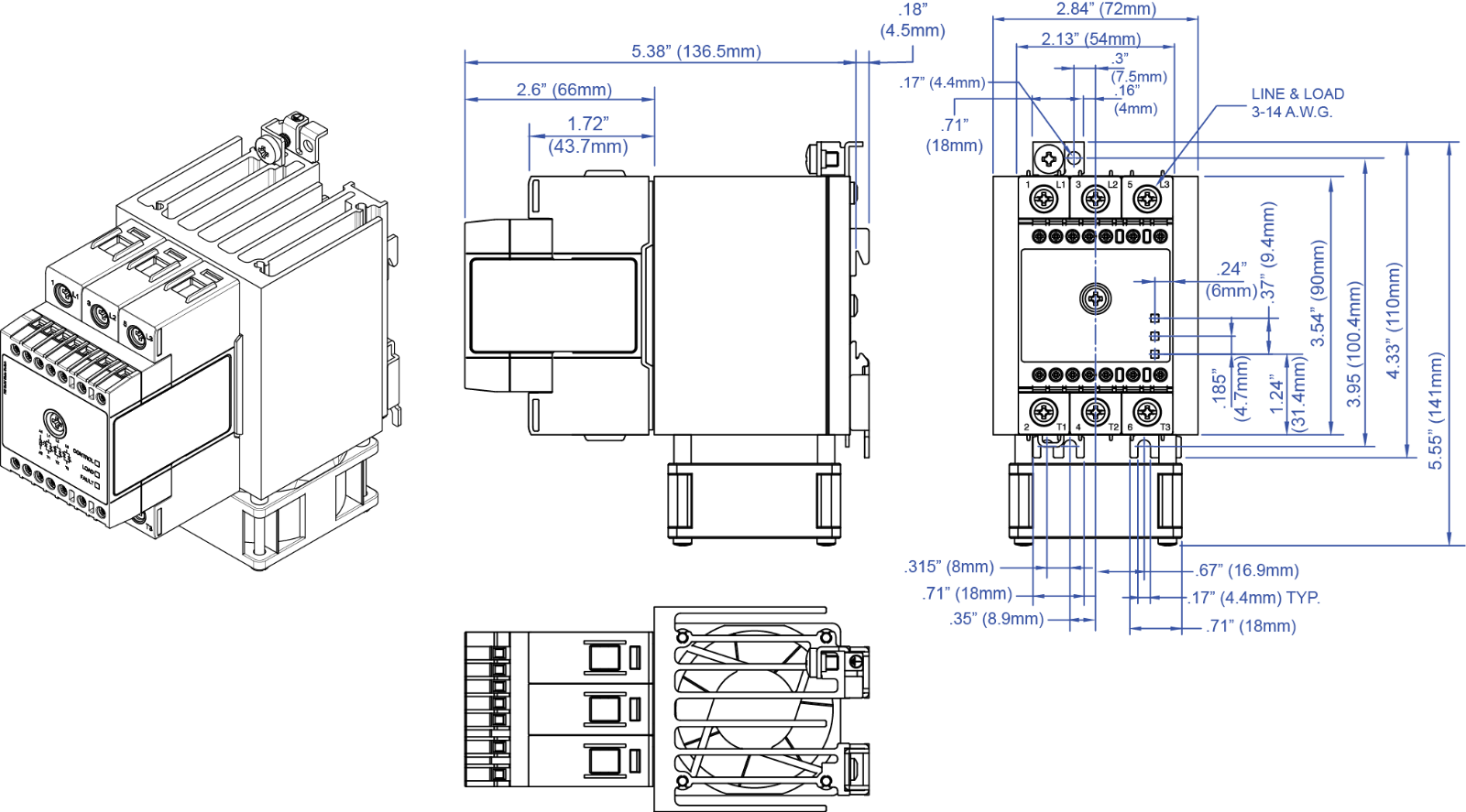 solid state relay - ssr - 3-pole - 3 phase