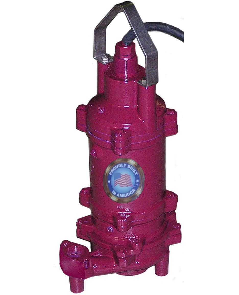 Grinder Pump - 2HP - 115V - (20 gpm & 90 foot head) - Internal Start  Components - Float Included