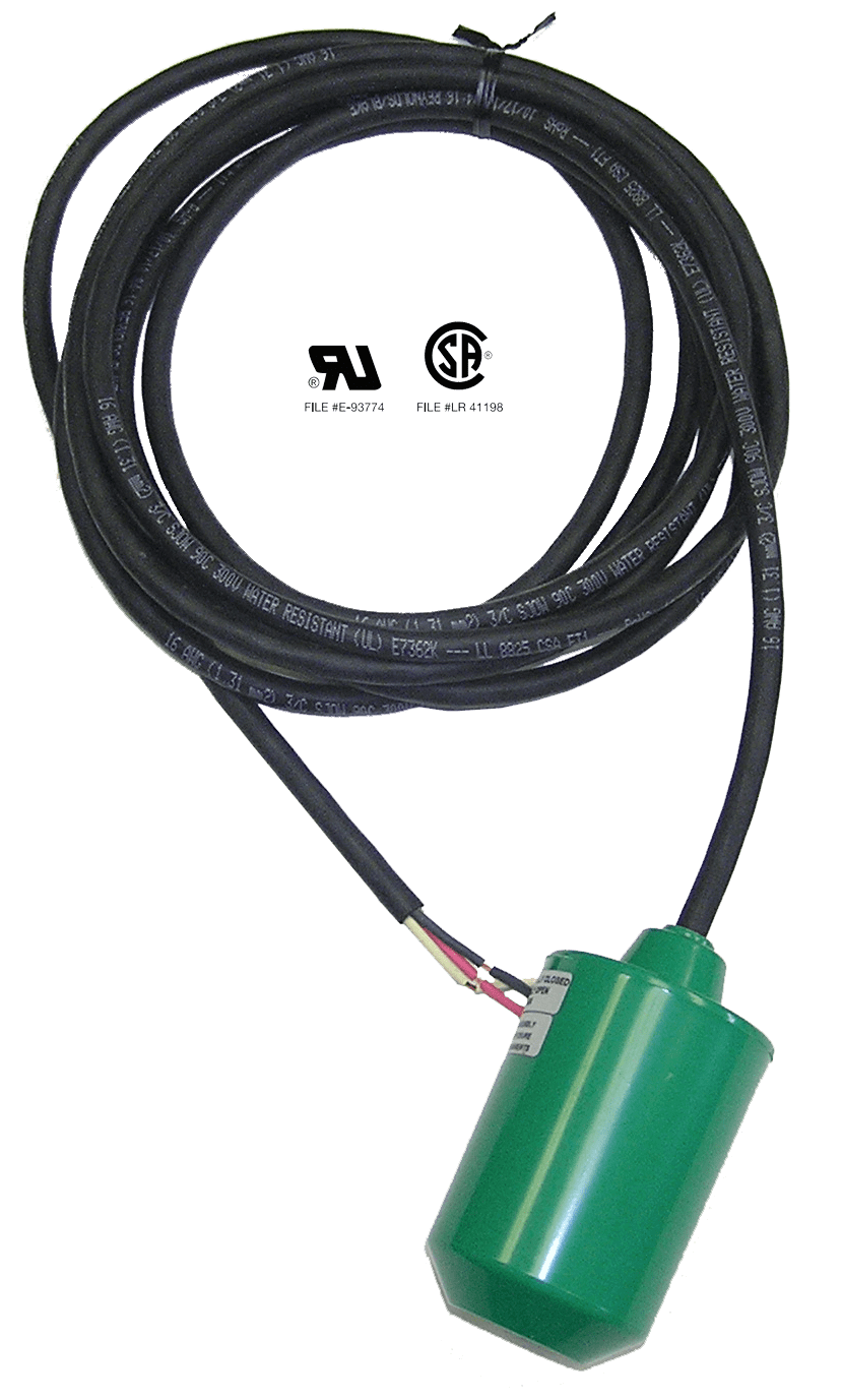 Pump Duty Float Switch Double Throw Spdt Wide Angle Skived Wiring Diagram Foot 10 Cord Ends