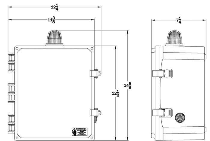Duplex Control Panel - 115/208/230V 1 Phase on