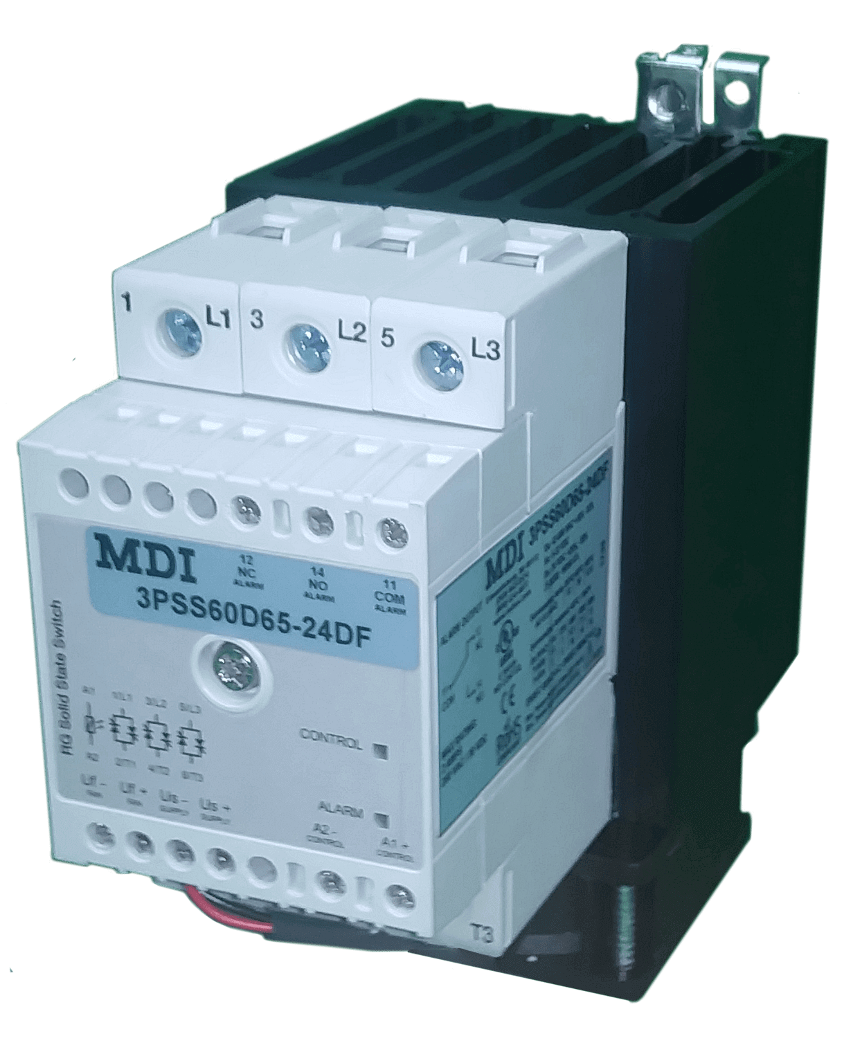 Solid State Relay Ssr 3 Pole Phase 65 Amp 42 600 Vac For Dc Aac Control