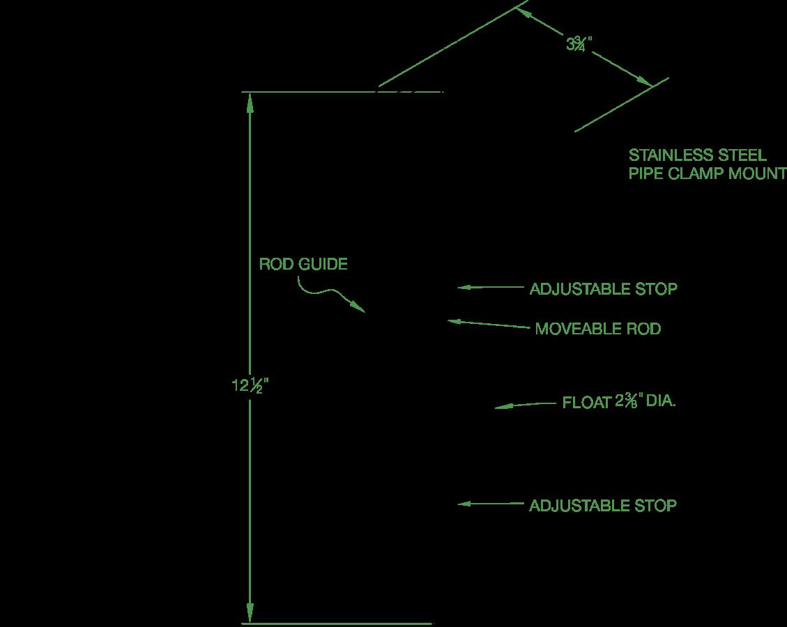 Vertical Float Switch - Narrow Pumping Range