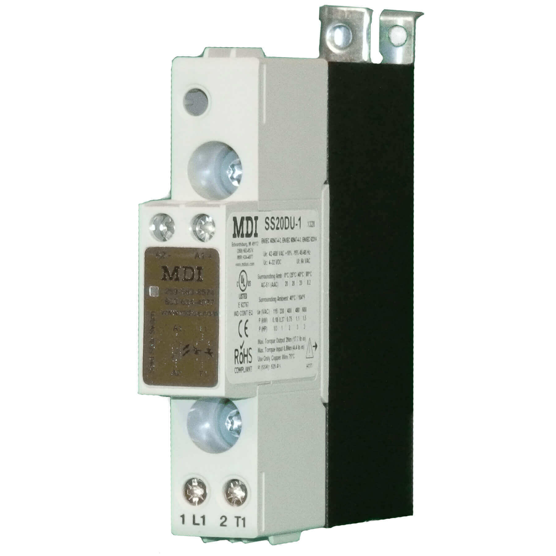 Solid State Relay - 20 AAC - Single Pole - DC Control - SSR Contacts